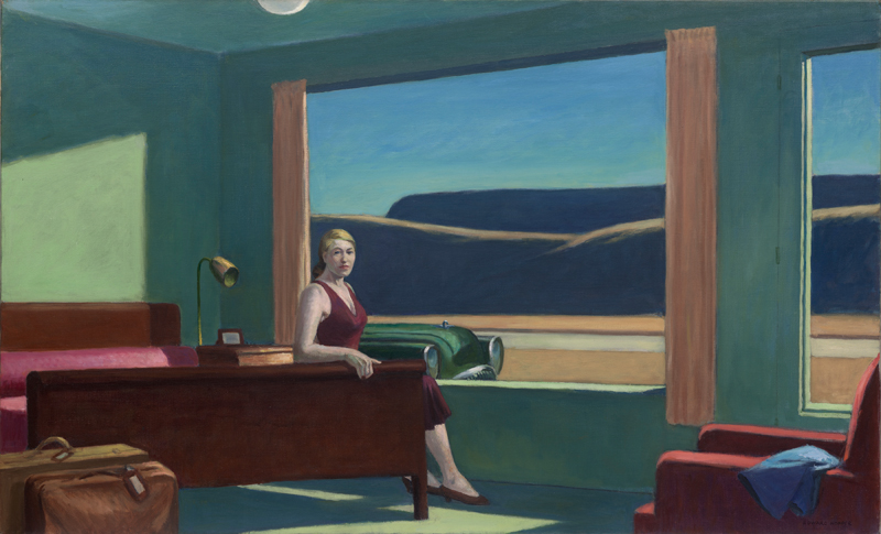 "Edward Hopper,  ""Western Motel"" (1957) © 2019 Heirs of Josephine N. Hopper / Artists Rights Society (ARS), NY"