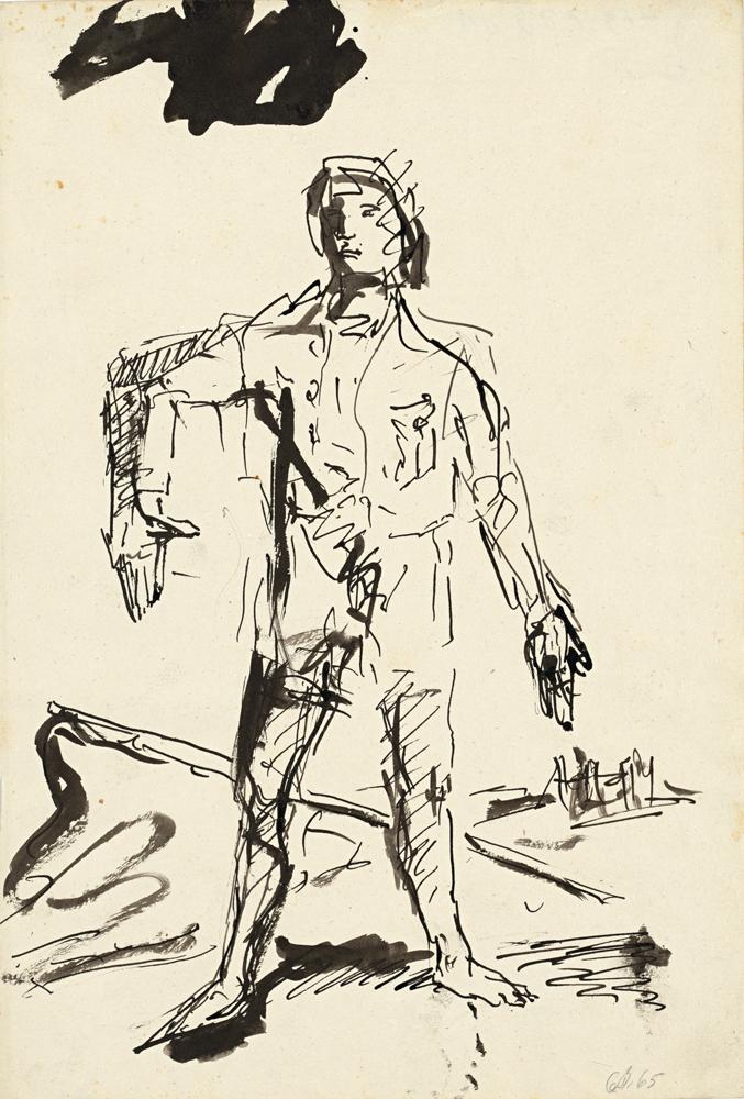 Ein-neuer-Typ-(A-New Type), 1965. Georg Baselitz