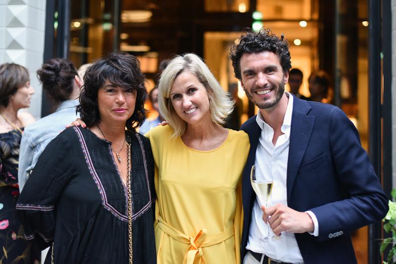 Elsa Wolinski, Charlotte Walhain-Vibert, directrice de la communication L'Oréal produits professionel et Quentin Lenotte, directeur marketing L'Oréal produits professionels