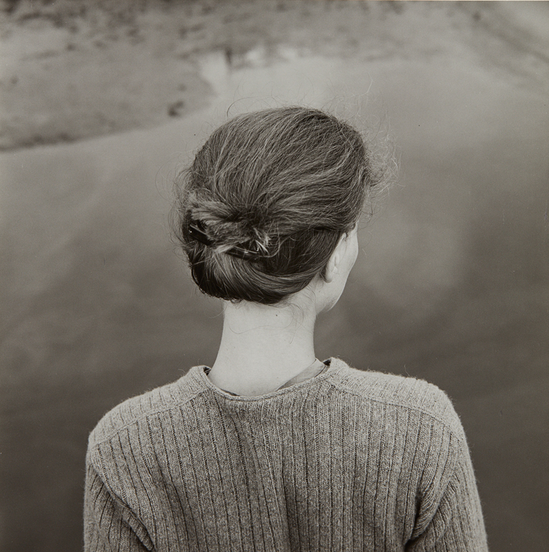 "Emmet Gowin ""Edith, Chincoteague, Virginia"" 1967 Gelatin silver print, printed later. 6 1/4 x 6 1/4 in. (15.9 x 15.9 cm)"
