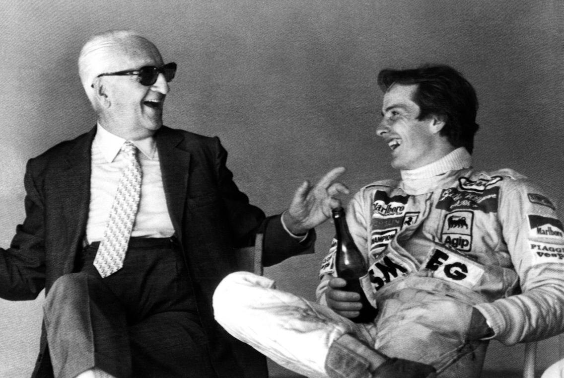 Enzo Ferrari and Gilles Villeneuve.