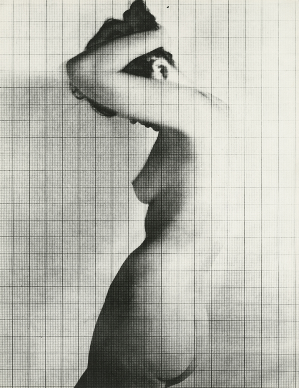 "Erwin Blumenfeld, ""Nude Under Grid"", New York (1950). Copyright 2019 The Estate of Erwin Blumenfeld. Courtesy Howard Greenberg Gallery, NYC"