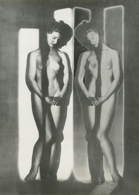 "Erwin Blumenfeld, ""Solarized Double Mirror Cubist Nude"", New York (1945). Copyright 2019 THe Estate of Erwin Blumenfeld. Courtesy Howard Greenberg Gallery, NYC"