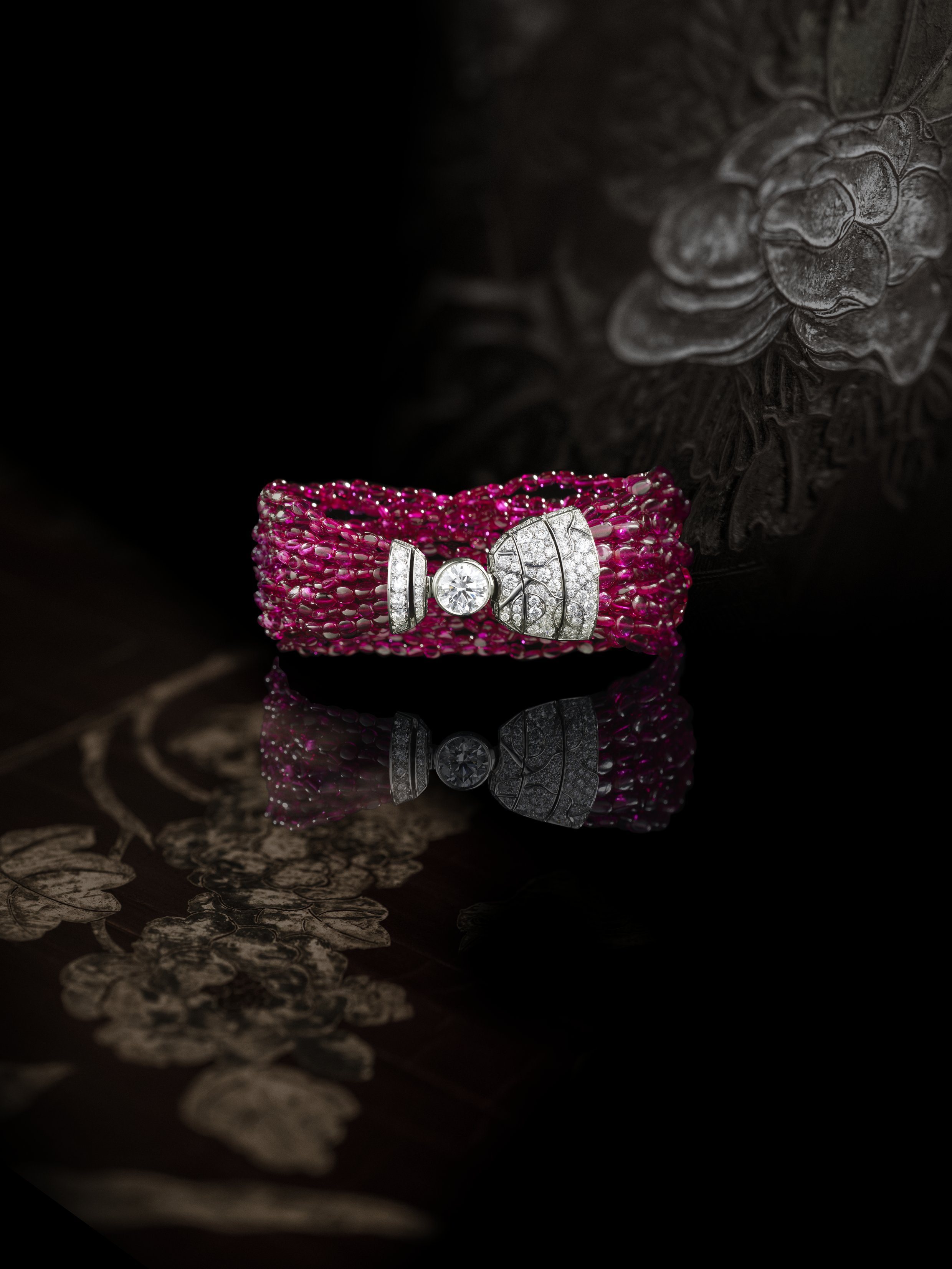 """Chanel Coromandel - """"Évocation florale"""" spinelle"""