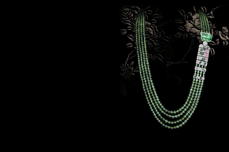 """Chanel Coromandel - """"Évocation florale"""" tsavorite"""