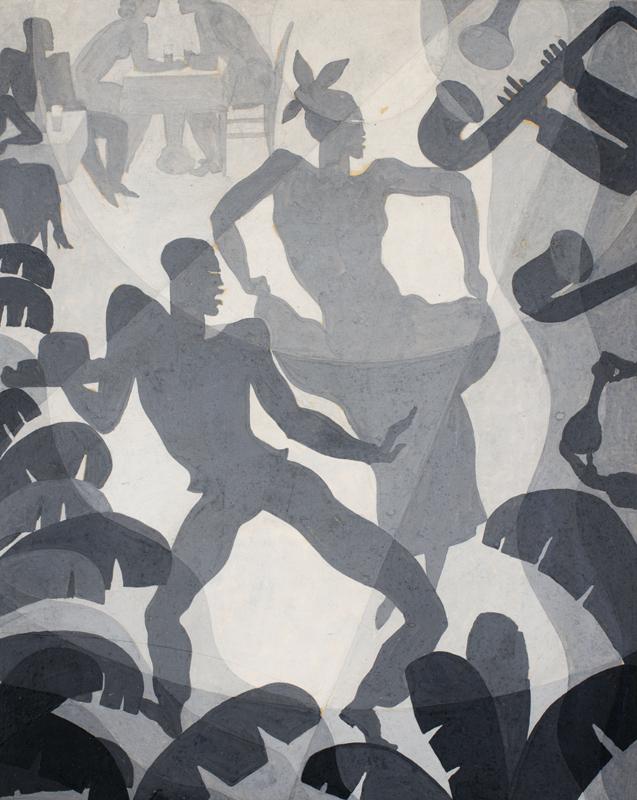Aaron Douglas, Dance, c. 1930 © Heirs of Aaron Douglas/VAGA at ARS, NY and DACS, London 2019