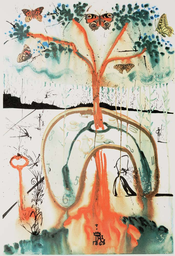 Salvador Dali, A Mad Tea Party, 1969, © Salvador Dali, Fundació Gala-Salvador Dalí, DACS 2019. Dallas Museum of Art, gift of Lynne B. and Roy G. Sheldon, 1999.183.12_2