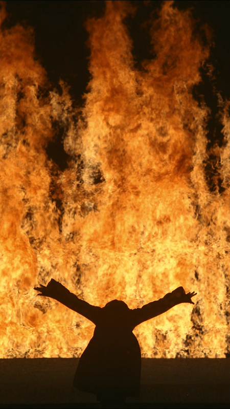 Bill Viola, Fire Woman, 2005 Video/sound installation Performer: Robin Bonaccorsi Courtesy Bill Viola Studio Photo: Kira Perov