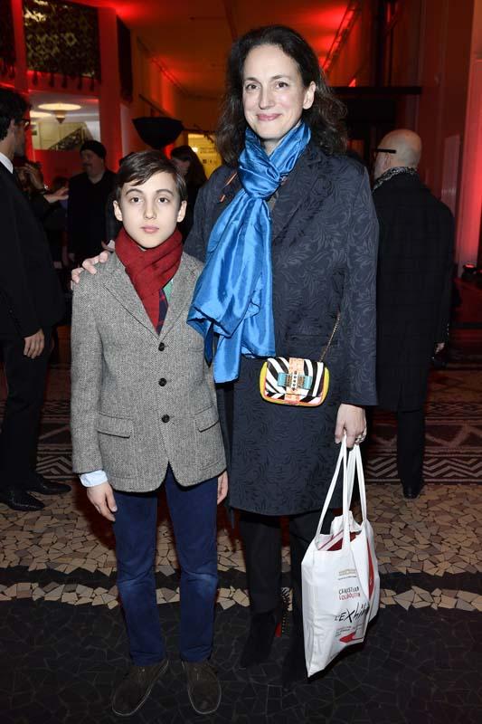 Olga de Grece et son fils Umberto