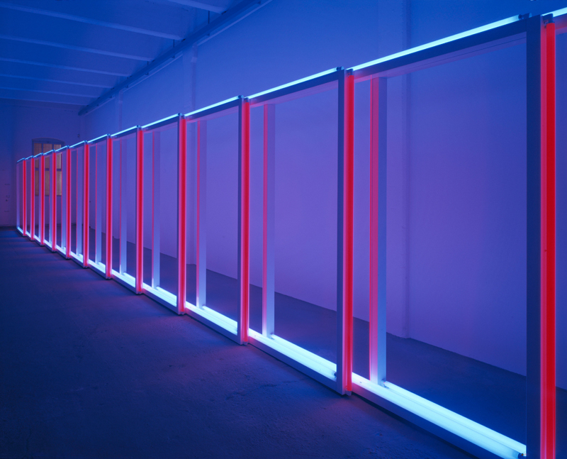 "Dan Flavin, ""untitled"" (1970). Installation view, Dan Flavin (1962/63, 1970, 1996), Dia Center for the Arts, 548 West 22nd Street, New York, May 22, 1997–June 14, 1998. Photo: Cathy Carver, courtesy Dia Art Foundation, New York © 2019 Stephen Flavin / Artists Rights Society (ARS), New York Courtesy David Zwirner"