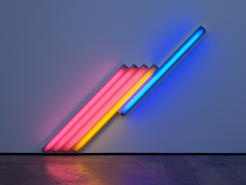 "Dan Flavin, ""untitled (for Frederika and Ian) 3"" (1987)  © 2019 Stephen Flavin / Artists Rights Society (ARS), New York. Courtesy David Zwirner"