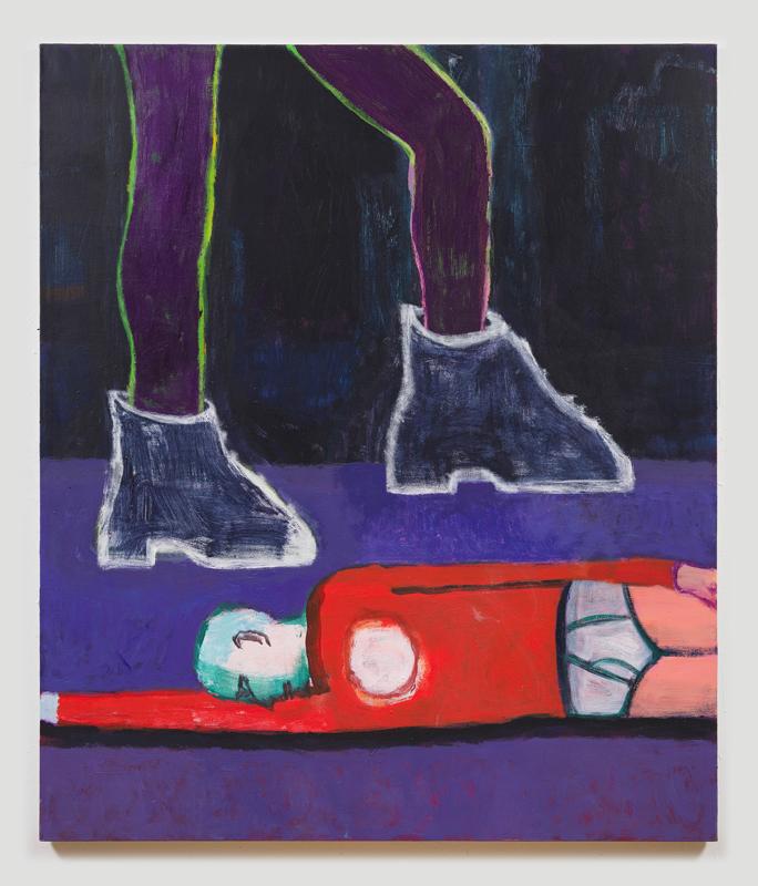 "Katherine Bradford, ""Big Boots"" (2019). Photo: Jeffrey Sturges. Courtesy of the artist and Campoli Presti, Paris"