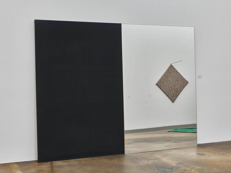 """Jean-Michel Sanejouand, """"Toile noire et miroir"""" (1963). Photo: Ilmari Kalkkinen/Mamco. Courtesy of the artist & Art: Concept, Paris"""