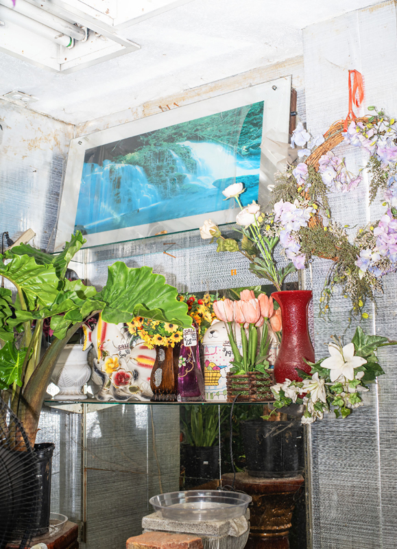 "Farah Al Qasimi, ""Flower Shop"" (2019). Photographic work as a part of ""Back and Forth Disco"". Courtesy the artist; Helena Anrather, New York; and The Third Line, Dubai."