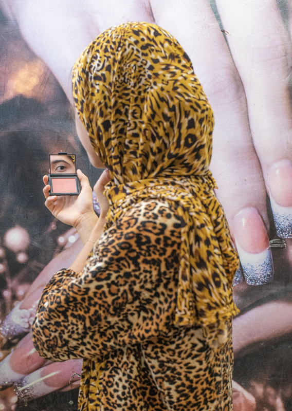 "Farah Al Qasimi, ""Woman in Leopard Print"" (2019). Photographic work as a part of ""Back and Forth Disco"". Courtesy the artist; Helena Anrather, New York; and The Third Line, Dubai."