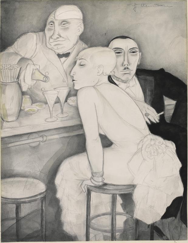 Jeanne Mammen Bar, c. 1930 Ömer Koç Collection © DACS, 2019