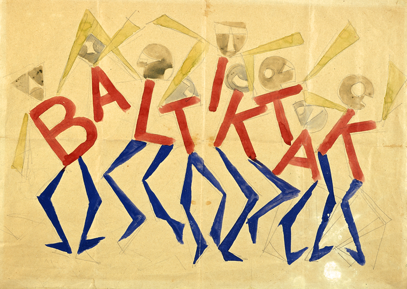 Giacomo Balla Design for the sign and flashing light for the facade of the Bal Tic Tac, 1921 © DACS, 2019. Reproduced by permission of the Fondazione Torino Musei. Photo: Studio Fotografico Gonella 2014