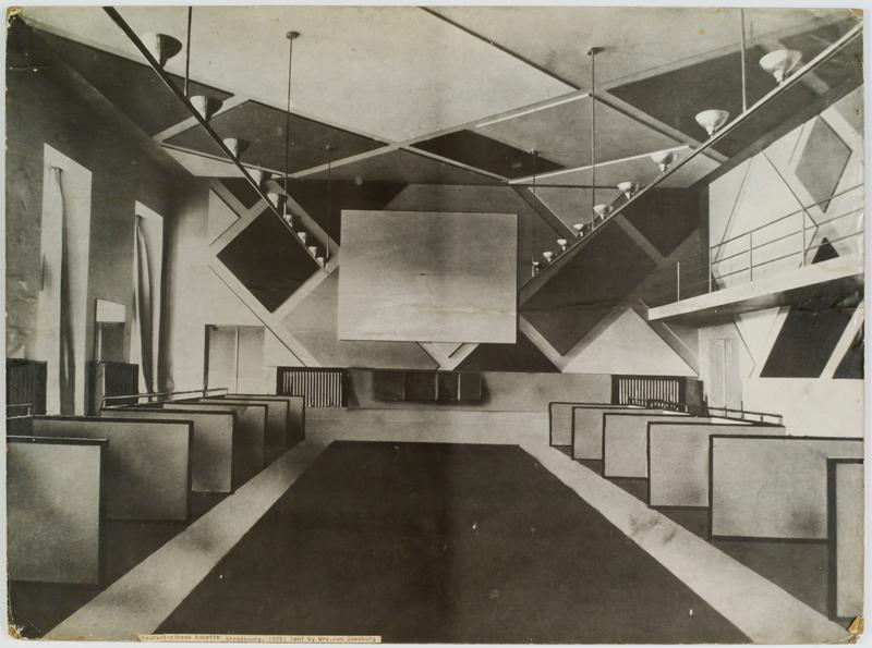 Theo van Doesburg The Ciné-bal (cinema-ballroom) at Café L'Aubette, Strasbourg, designed by Theo van Doesburg, 1926-28 Image: Collection Het Nieuwe Instituut, donation Van Moorsel, archive (code): DOES, inv.nr AB5252