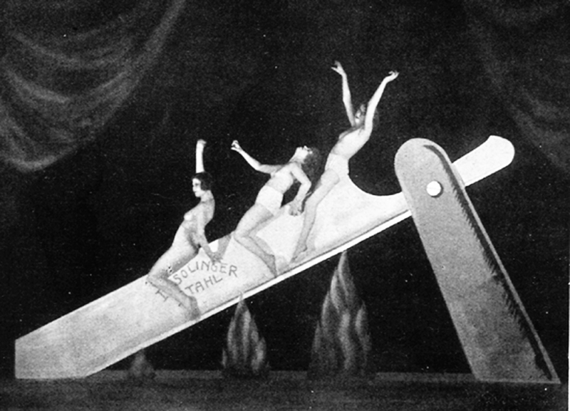Unknown photographer 'Slide on the Razor', performance as part of the Haller Revue 'Under and Over', Berlin, 1923 Courtesy Feral House