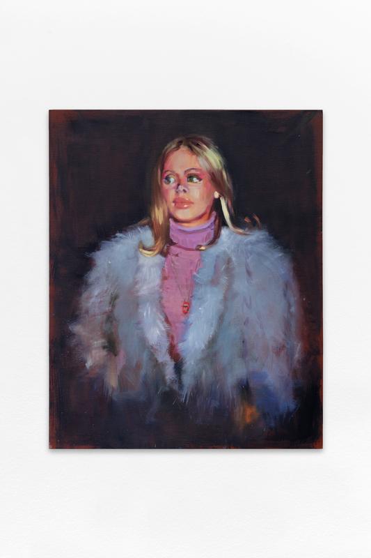 """Nina Childress, """"BE (07) (fourrure)"""" (2016). 100 x 81 cm. Huile sur toile. Courtesy de l'artiste et Galerie Bernard Jordan (Paris / Zurich) © Aurélien Mole / ©ADAGP, Paris, 2020"""
