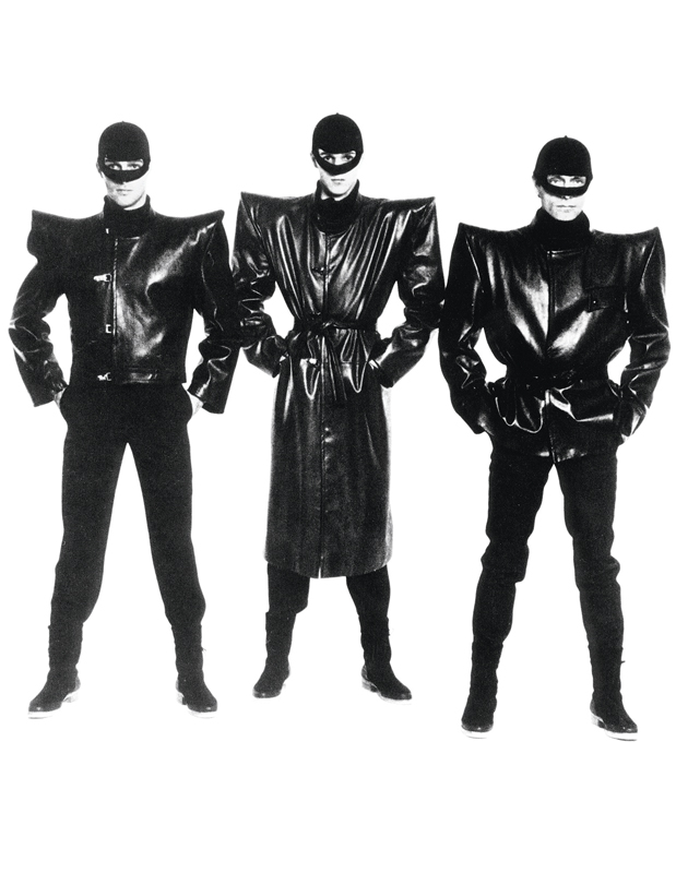 "Pierre Cardin ""Pagoda"" jackets in leather (1979). Photo: Courtesy of Archives Pierre Cardin. © Archives Pierre Cardin"