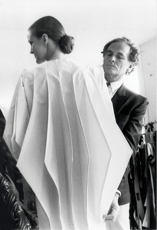 Pierre Cardin developing his