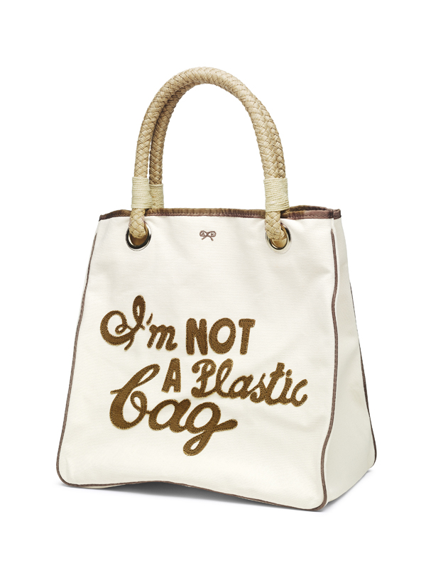 Anya Hindmarch and We Are What We Do, 'I'm NOT a Plastic bag' tote bag, 2007, London (c) Victoria and Albert Museum, London