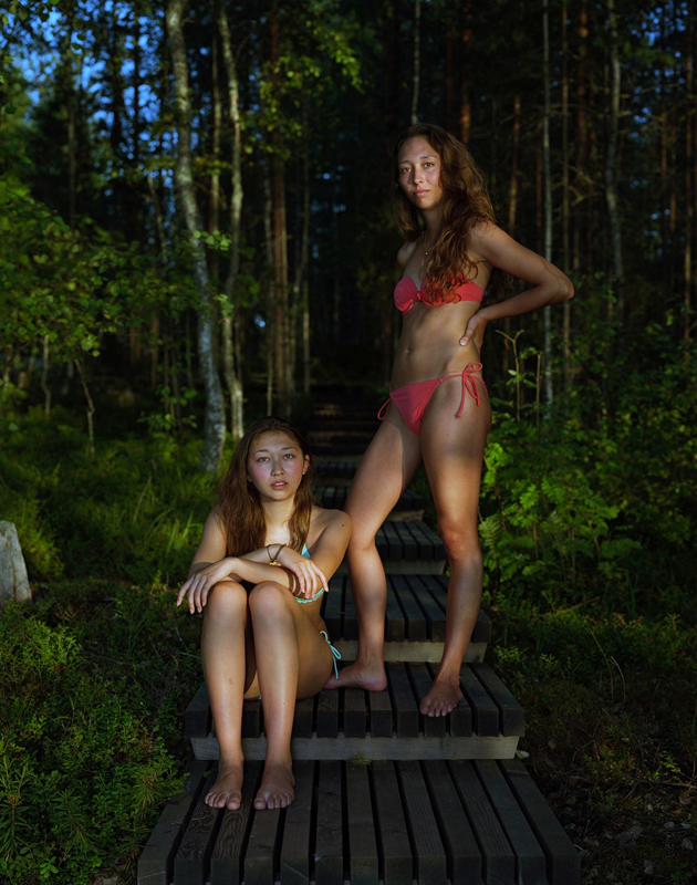 "Rineke Dijkstra, ""Sophie and Alice, Savolinna, Finland, August 3, 2013"" (2013, printed in 2017). Courtesy the artist and Marian Goodman Gallery New York, Paris and London"