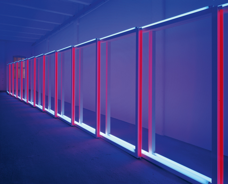 "Dan Flavin, ""Untitled"" (1970). Vue de l'installation Dan Flavin (1962/1963, 1970, 1996). Photo : Cathy Carver, cour tesy Dia Ar t Foundation, New York. © 2019 Stephen Flavin/Ar tists Rights Society (ARS), New York. Courtesy David Zwirner"