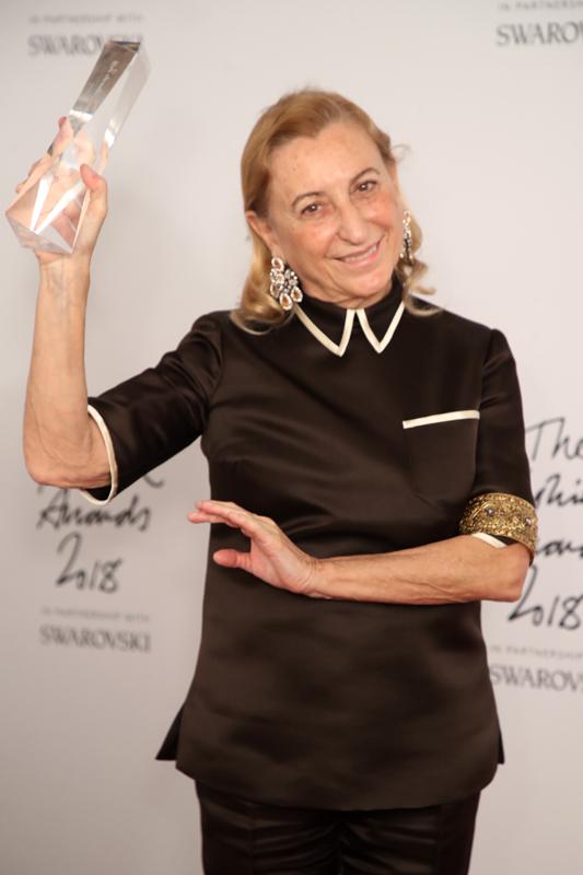 Miuccia Prada, fondatrice de Prada : Outstanding Achievement