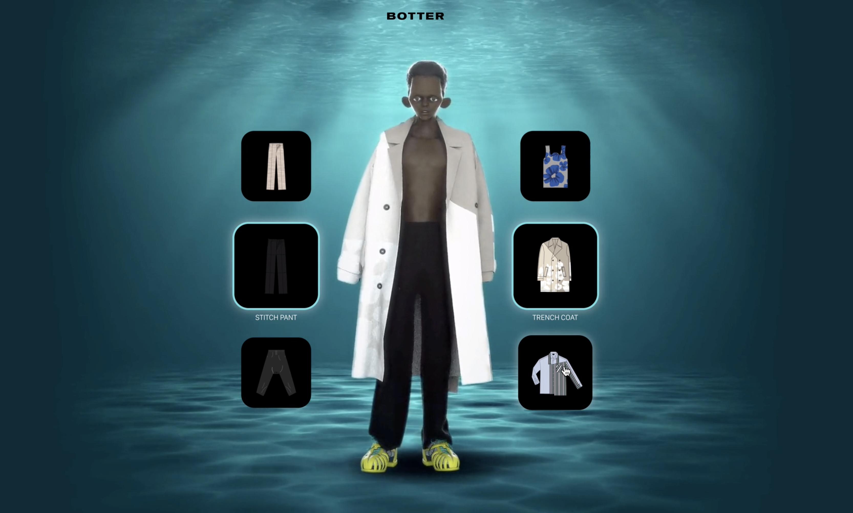Botter collection printemps-été 2021 : Cloakroom digital experience