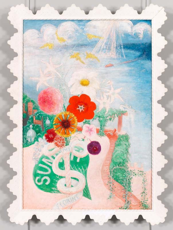 Florine Stettheimer (1871-1944), Sun, 1931. Oil on canvas, with frame, 43 5/8 × 31 3/4 × 2 1/8 in. (110.8 × 80.6 × 5.4 cm). Whitney Museum of American Art, New York; purchase 73.36a-b