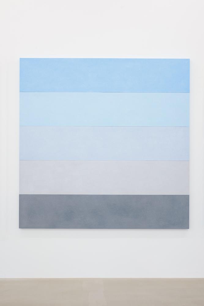 """Ettore Spalletti """"Paesaggio"""", 2, 2015 Impasto sur bois 200 x 200 x 4 cm"""