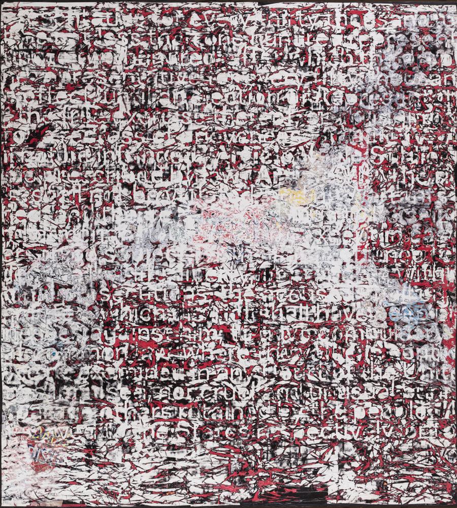 """Mark Bradford, """"Constitution IV"""", 2013 Technique mixte sur toile 335,3 x 304,8 cm"""