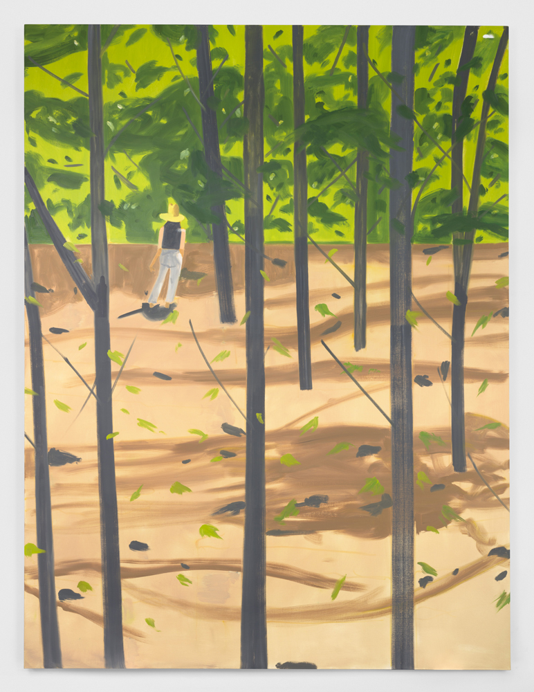 "Alex Katz, ""Figure in the Woods"", 2016. Huile sur toile 365,8 x 264,2 cm"