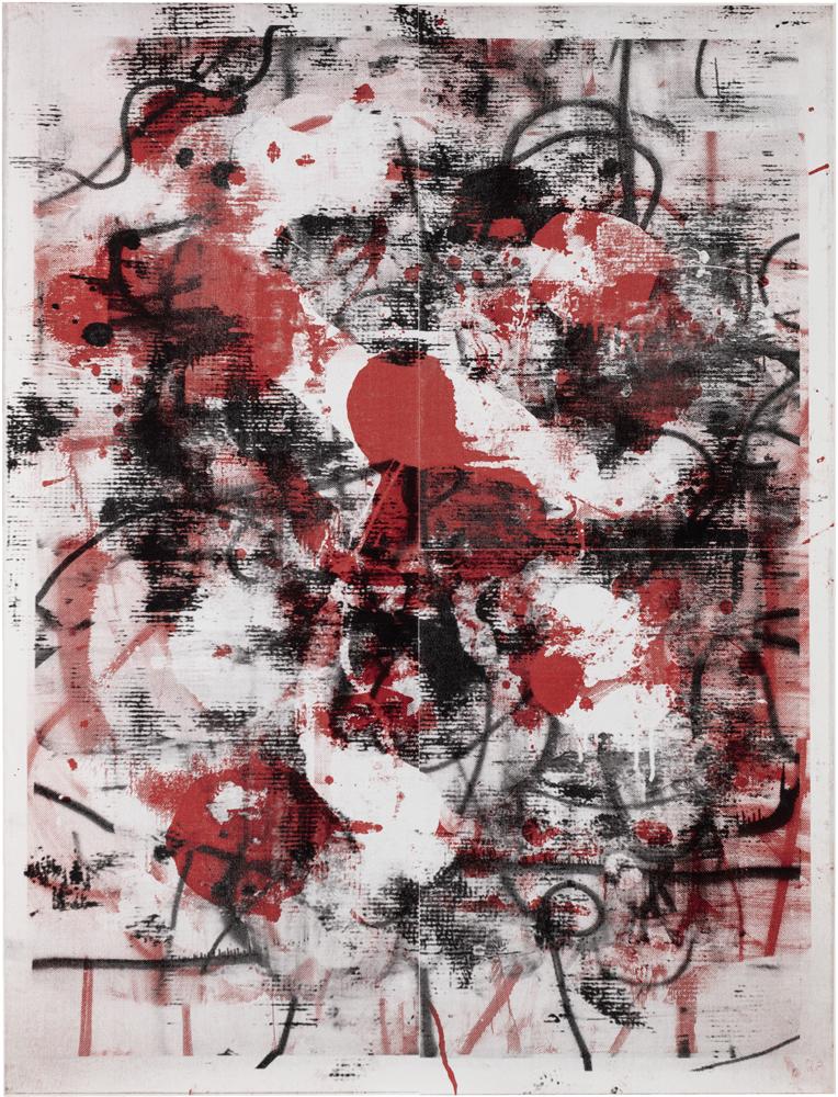 """Christopher Wool """"Untitled"""", 2010 Encre sérigraphique sur toile 320 x 243,8 cm"""