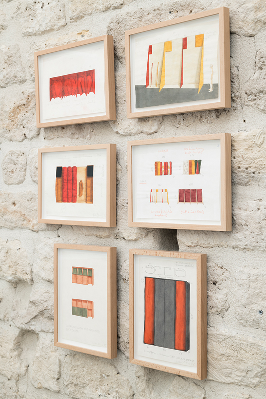 Series of 36 drawings related to the Wall Formation series, mixed media on paper. Inv. # FEW/D 388. Not for sale.