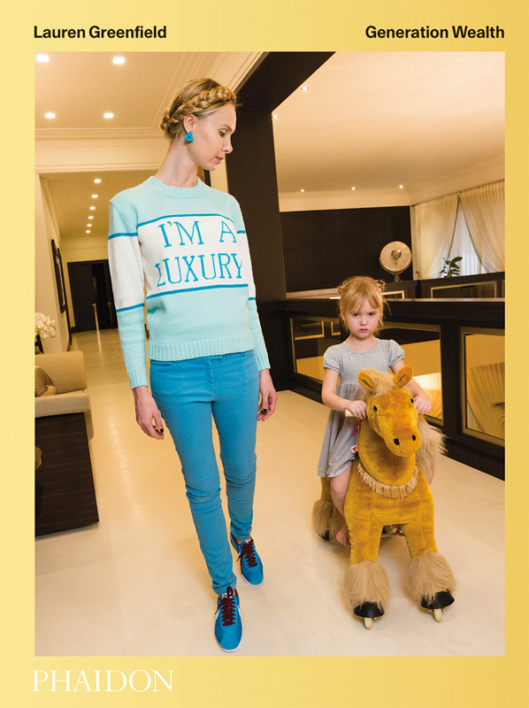 Cover - Ilona at home with her daughter, Michelle, 4, Moscow, 2012. Ilona's sweater was produced for her in a custom color by her friend Andrey Artyomov, whose Walk of Shame fashion line is popular among the wives of oligarchs.