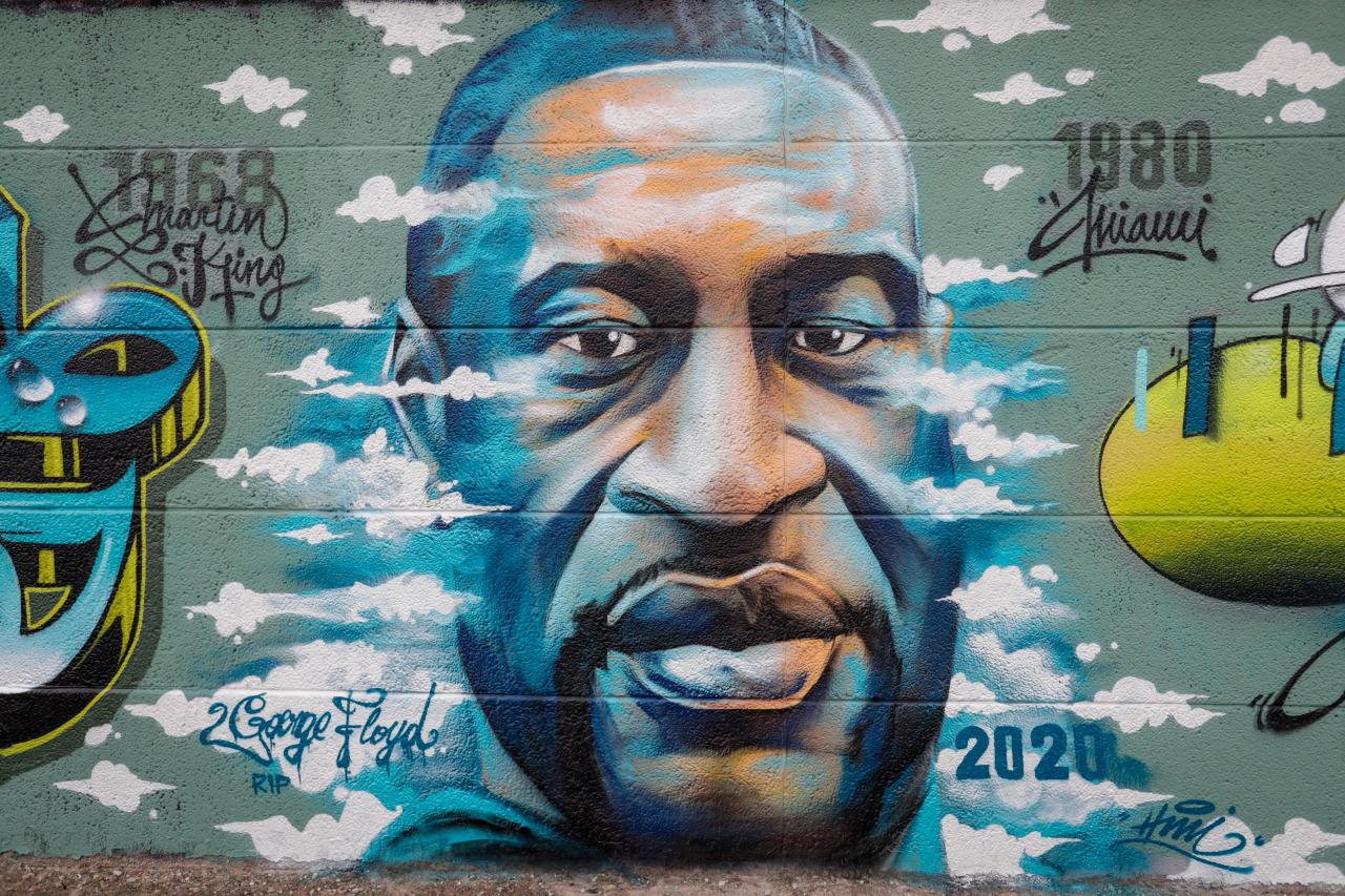 A mural by painter Fouad Hachmi near Brussels, Belgium. STEPHANIE LECOCQ/EPA-EFE/Shutterstock