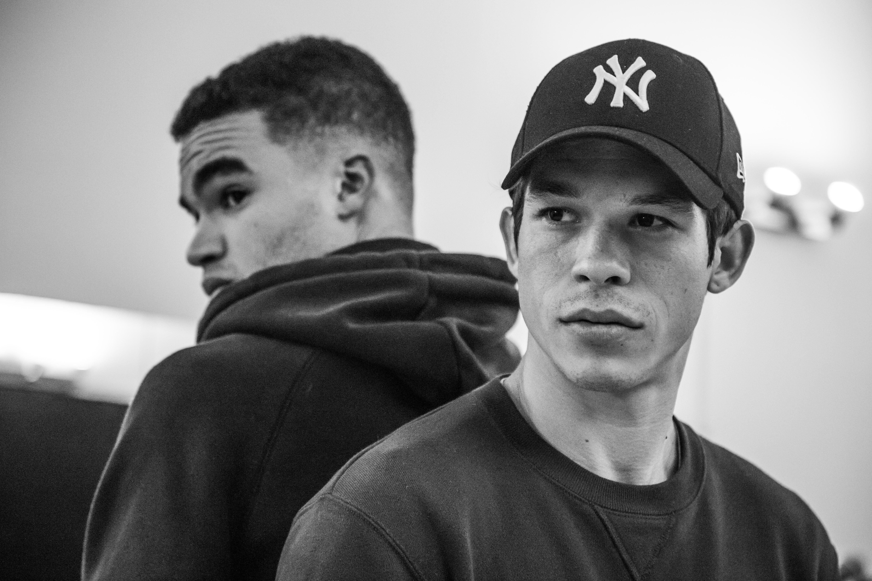 Sandor Funtek et Théo Christine pendant les répétitions. Photographe : Gianni Giardinelli © Gianni Giardinelli / Sony Pictures Entertainment France