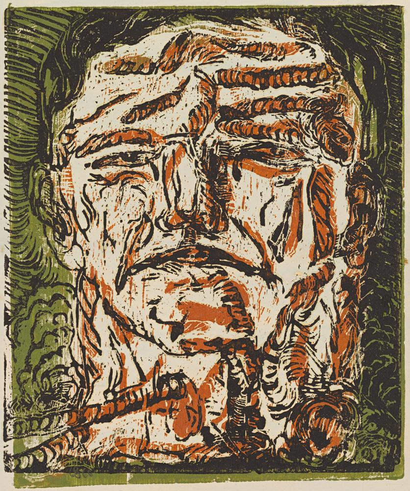 Großer-Kopf-(Large-Head), 1966. Georg Baselitz