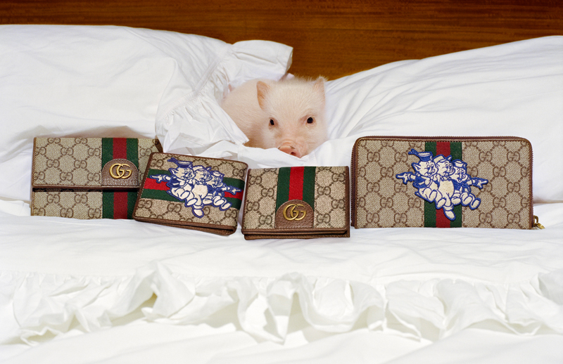 Photo : Frank Lebon Courtesy of Gucci, The Three Little Pigs © Disney