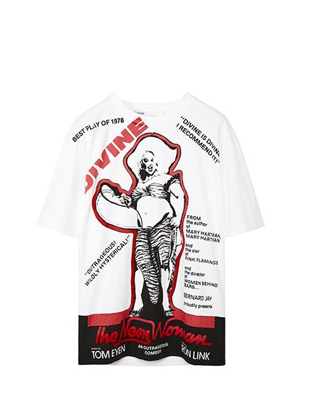 T-shirt Divine en blanc