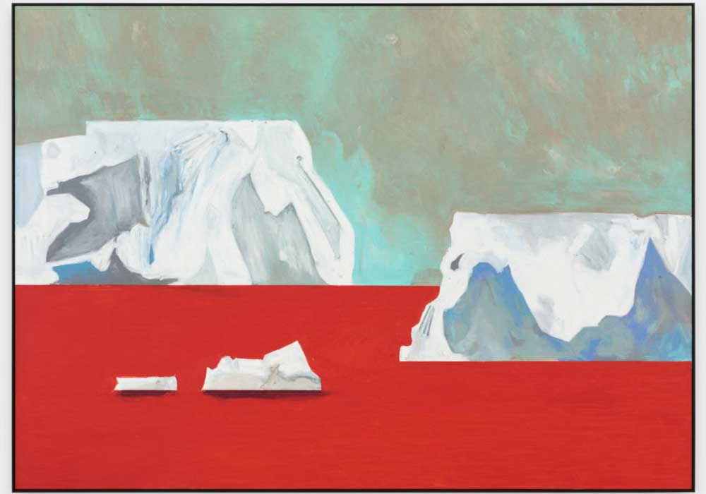 Sans titre, 2018 (icebergs) d'Harold Ancart. Courtesy of Clearing Brooklyn.