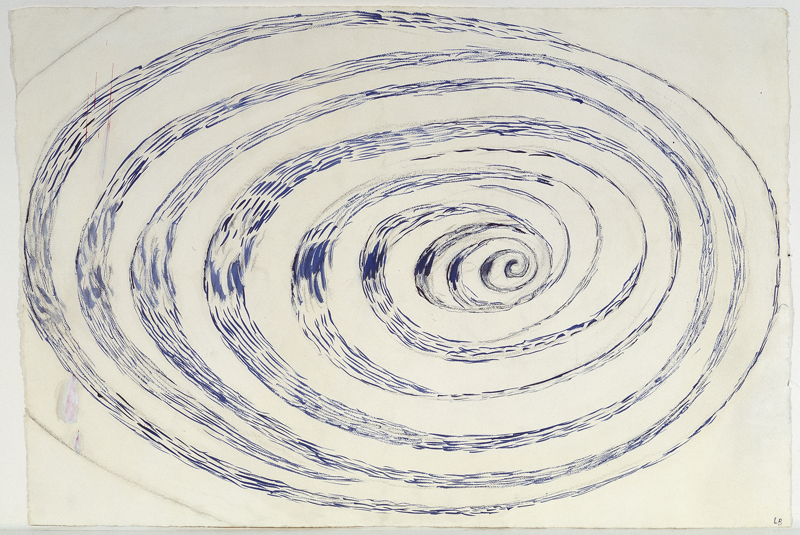 """Louise Bourgeois, """"Untitled"""" (1970). Watercolor and charcoal on paper  69.9 x 101.6 cm / 27 1/2 x 40 in Photo: Christopher Burke"""