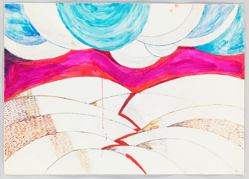 """Louise Bourgeois, """" Untitled"""" (1970). Pencil and ink on paper 74.9 x 104.8 cm / 29 1/2 x 41 1/4 in Photo: Christopher Burke"""