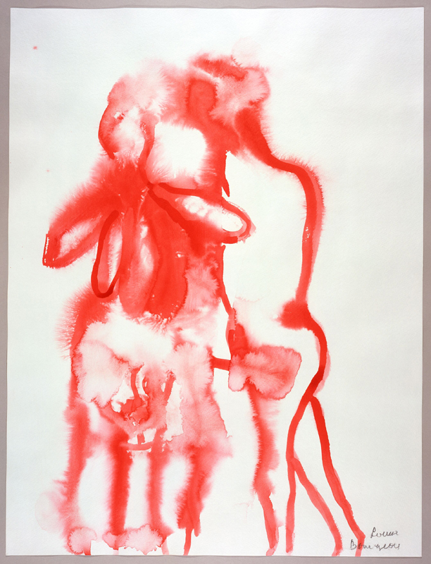 """Louise Bourgeois, """"Untitled"""" (1997). Watercolor, ink and charcoal on paper 45.1 x 30.5 cm / 17 3/4 x 12 in Photo: Christopher Burke"""