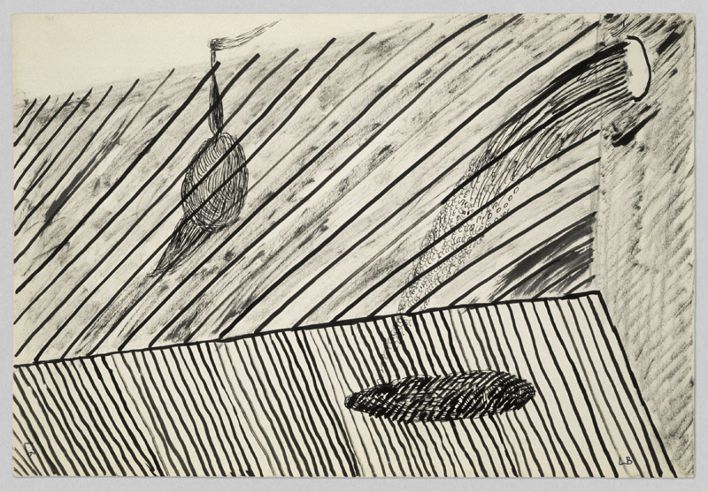 """Louise Bourgeois, """"Untitled"""" (1951). Ink and charcoal on paper 19.1 x 27.9 cm / 7 1/2 x 11 in Photo: Christopher Burke"""