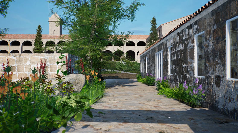 ArtLab, Hauser & Wirth Menorca exterior view created in HWVR