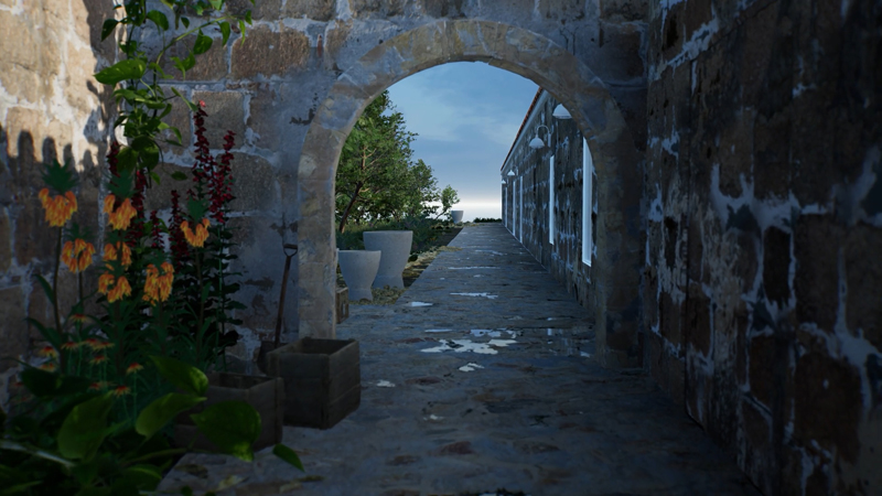 ArtLab, Hauser & Wirth Menorca exterior view created in HWVR. 
